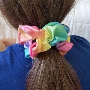 Rainbow scrunchies HANDMADE BY ME